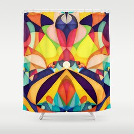 Poetry Geometry Shower Curtain