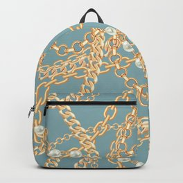 Wrapped in Gold Chains & Pearl Strands Backpack