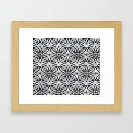 Marble black butterfly pattern Framed Art Print