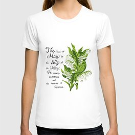Lili of The Valley - Birth Month Flower for May T-shirt