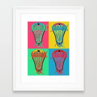 lacrosse Framed Art Prints featuring Lacrosse BIG4 by YouGotThat.com