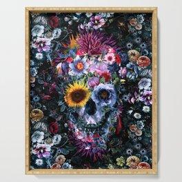 Voodoo Skull Floral Serving Tray