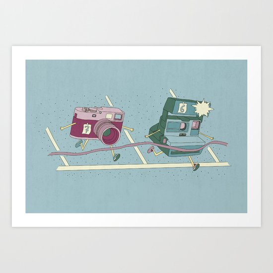 Photo Finish! Art Print