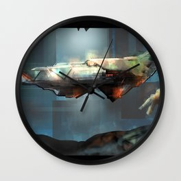 Space Port Wall Clock