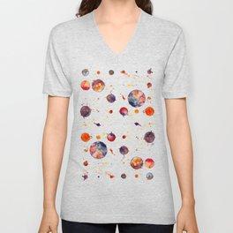 watercolor bubbles Unisex V-Neck