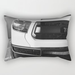 """TOY"" Tundra // Black and White Monster Truck Geared Out Big Wheels Matte Black Grille Rectangular Pillow"