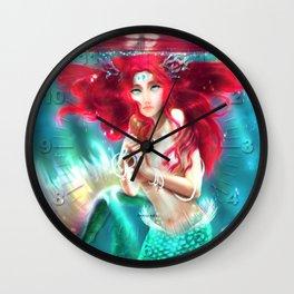 Mermaid underwater Wall Clock