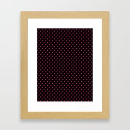 BLACK & HOT PINK BOMB DIGGITYS ALL OVER SMALL Framed Art Print
