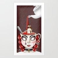 Red Tea Art Print