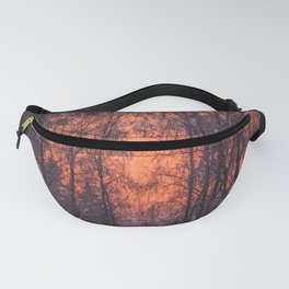 Winter Scene - Frosty Trees Against The Sunset #decor #society6 #homedecor Fanny Pack