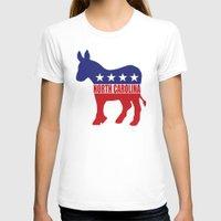 north carolina T-shirts featuring North Carolina Democrat Donkey by Democrat