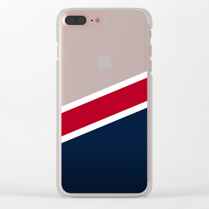 Wooden New England Clear iPhone Case