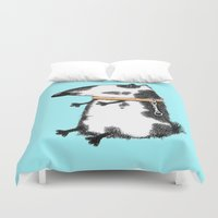 dog Duvet Covers featuring DOG by Кaterina Кalinich