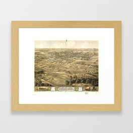 Bird's Eye View of Chillicothe, Missouri (1869) Framed Art Print
