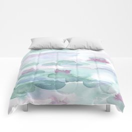 Monet Lily pads Comforters