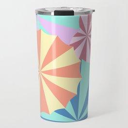 Colourful Umbrellas Travel Mug