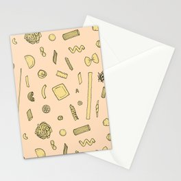 Pasta pattern Stationery Cards