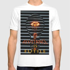Resistance is Futile  Mens Fitted Tee White MEDIUM