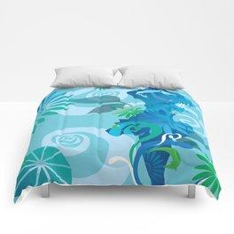 Cool Blue Salsa  Comforters