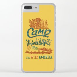 It's a Wild America – Camp Yeti Poster Clear iPhone Case