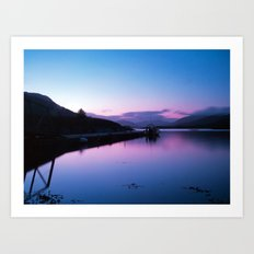 Loch Leven Sunset Art Print