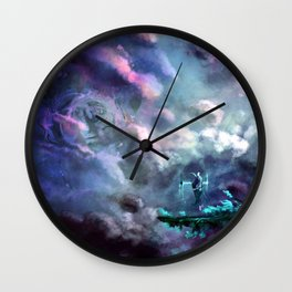 Water Temple in the Sky Wall Clock