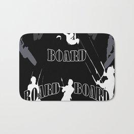 Board Board Board Kiteboarding Bath Mat