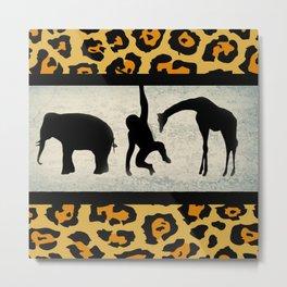 Animals on Parade Metal Print