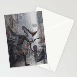 Life is a Dance in The Rain III Stationery Cards