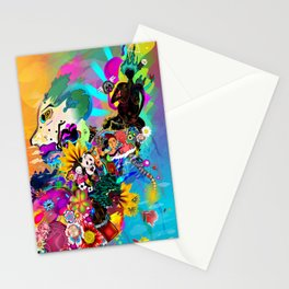 Black Asiatic Stationery Cards