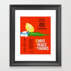 Sukkot Poster Framed Art Print