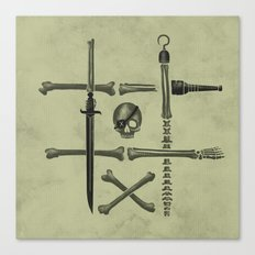 Noughts & Crossbones Canvas Print