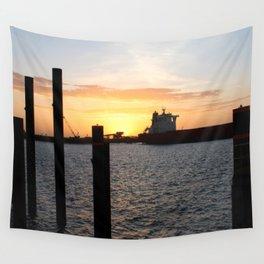 Port Hedland Port Sunset Wall Tapestry