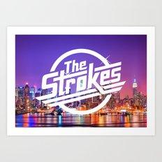 The Strokes Logo New York Night Art Print