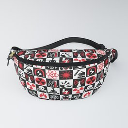 Hazard Danger Icons Fanny Pack