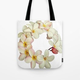 Plumeria Tropical Flower Garland Tote Bag