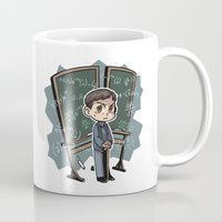 pacific rim Mugs featuring Pacific Rim - Handwriting of God by feriowind