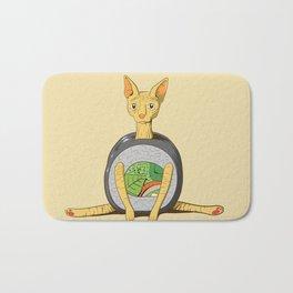 Funny Art For Cat Lovers Sushi Sphynx Bath Mat