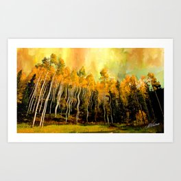 Aspen Brillance Art Print
