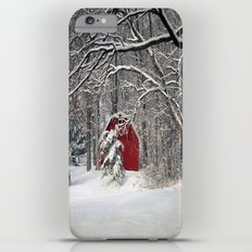 Red Barn in the Snow 2011 Slim Case iPhone 6s Plus