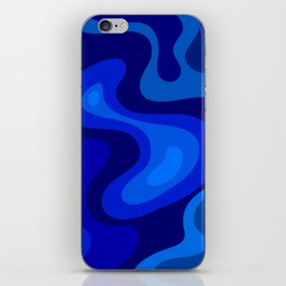 Blue Abstract Art Colorful Blue Shades Design iPhone Skin