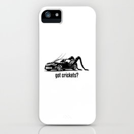 Got Crickets? ~Black~ iPhone Case