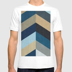 Minimalist bands X White Mens Fitted Tee MEDIUM