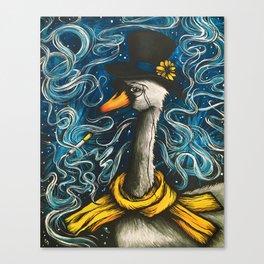 Smoking Swan Canvas Print