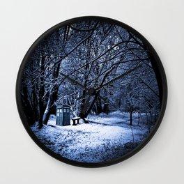 Tardis Forest Wall Clock