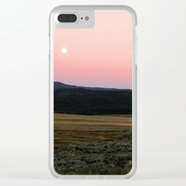 Sagebrush Sunset Clear iPhone Case