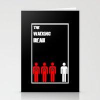 walking dead Stationery Cards featuring The Walking Dead Minimalist by Joe Hilditch