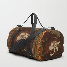 Wonderful  tiger head, golden colors Duffle Bag