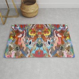 Abstract Mandala Kaleidoscope Design 733 Rug