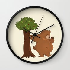 Bear and Madrono Wall Clock
